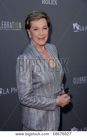 Julie Andrews at the Walt Disney Concert Hall 10th Anniversary Celebration, Walt Disney Concert Hall, Los Angeles, CA 09-30-13