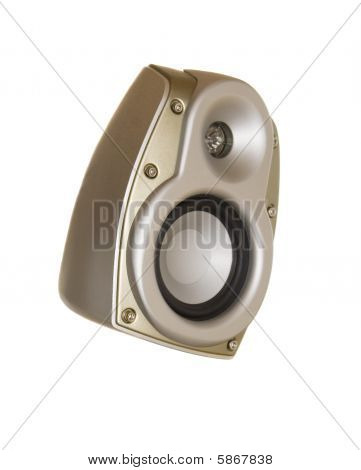 Gold Acoustic System Isolated Over White background