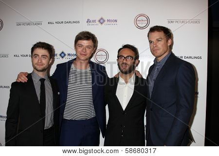 Daniel Radcliffe, Dane DeHaan, John Krokidas and Michael C. Hall  at the