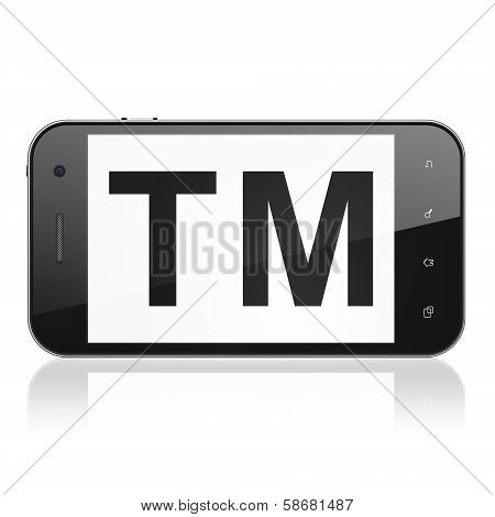Law concept: Trademark on smartphone