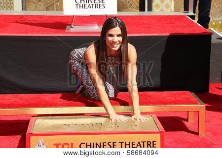 Sandra Bullock at the Sandra Bullock Hand And Footprint Ceremony, Chinese Theater, Hollywood, CA 09-25-13