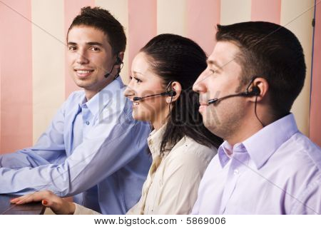 Business People Support Operators