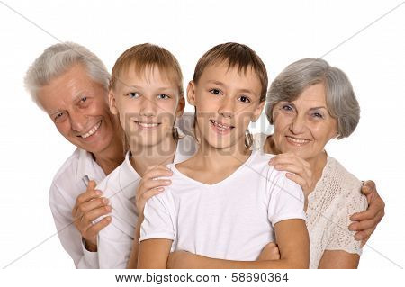 Grandparents with grandkids