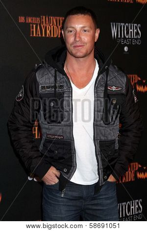 Lane Garrison at the 8th Annual LA Haunted Hayride Premiere Night, Griffith Park, Los Angeles, CA 10-10-13