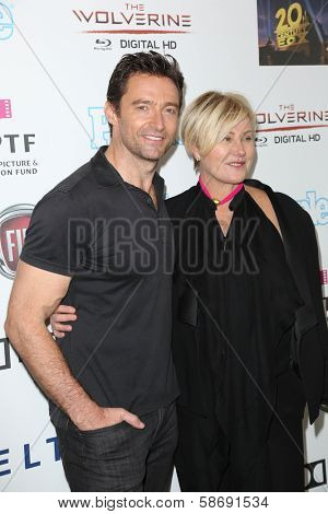 Hugh Jackman, Deborra-Lee Furness at Hugh Jackman