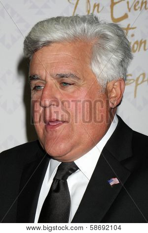 Jay Leno at the 10th Alfred Mann Foundation Gala, Robinson-May Lot, Beverly Hills, CA 10-13-13