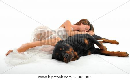 Bride And Rottweiler