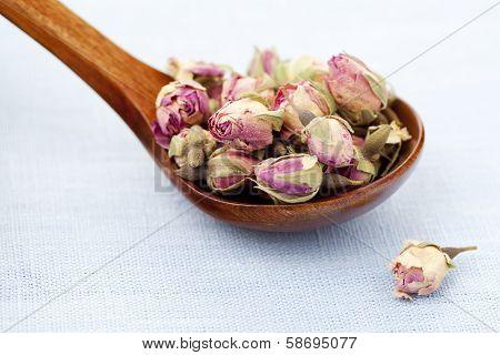 Rose tea buds
