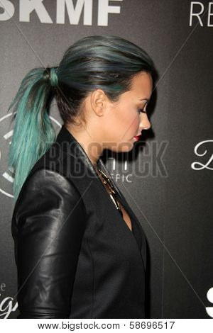 Demi Lovato Dignity Gala and Launch of Redlight Traffic App, Beverly Hilton Hotel, Beverly Hills, CA 10-18-13
