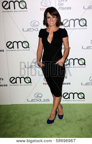 Constance Zimmer at the 23rd Annual Environmental Media Awards, Warner Brothers Studios, Burbank, CA 10-19-13