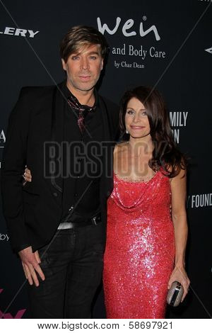 Chaz Dean and Joanne Dean at the Pink Party 2013, Hangar 8, Santa Monica, CA 10-19-13