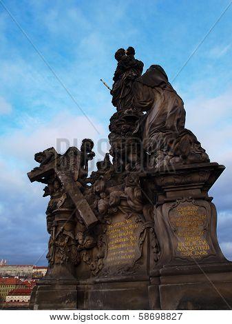 Statue of Madonna and St. Bernard Charles Bridge, Prague