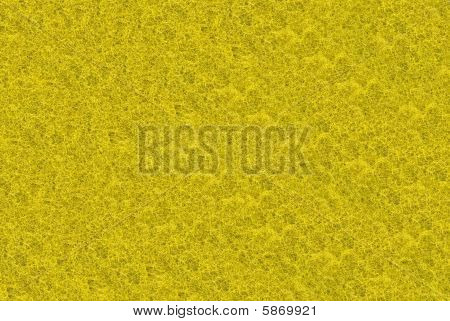 Close-up Of Yellow Synthetic Fibrous Surface