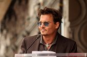Johnny Depp at the Jerry Bruckheimer Star on the Hollywood Walk of Fame ceremony, Hollywood, CA 06-2