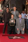 Johnny Depp, Bob Iger, Jerry Bruckheimer and Leron Gubler at the Jerry Bruckheimer Star on the Holly
