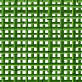 picture of stockade  - Seamless background of green bamboo square grid on white - JPG