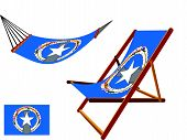 Norfolk Island Hammock And Deck Chair Set