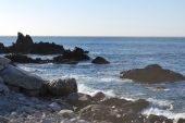 pic of cortez  - Sea of Cortez breaking against the rocks - JPG