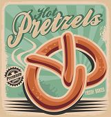stock photo of pretzels  - Hot pretzels - JPG