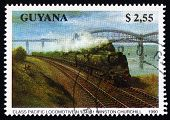 Postage Stamp Guyana 1990 Class Pacific, Locomotive