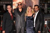 David Twohy, Vin Diesel, Katee Sackhoff, Jordi Molla at the