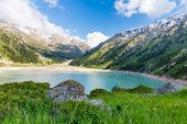 image of shan  - Spectacular scenic Big Almaty Lake Tien Shan Mountains in Almaty KazakhstanAsia at summer - JPG