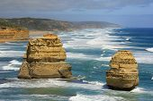 stock photo of 12 apostles  - scenic view of the 12 Apostles on the Great Ocean Road - JPG