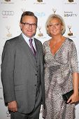 Hugh Bonneville and Lulu Williams at the 65th Annual Emmy Awards Performers Nominee Reception, Pacif