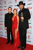 Daryl Sabara, Alexa Vega and Robert Rodriguez at the 2013 NCLR ALMA Awards Press Room, Pasadena Civi