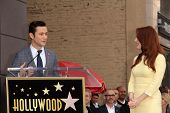 Joseph Gordon-Levitt and Julianne Moore at Julianne Moore's Star on the Hollywood Walk of Fame Cerem