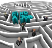 Find A Job - Business People In Maze