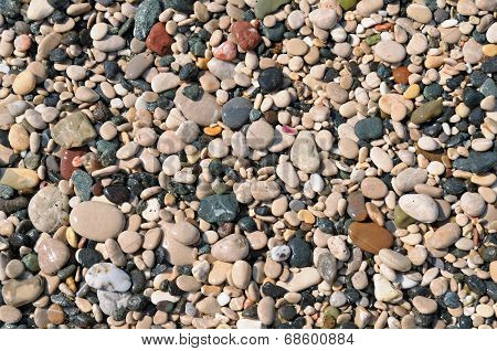 Beautiful Background Of Natural Stone Pebbles