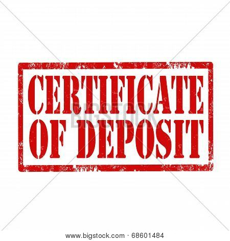 Certificate Of Deposit-stamp