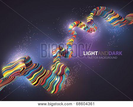 Vector Energy Glowing Background