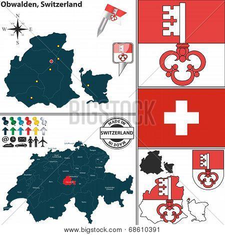 Map Of Obwalden, Switzerland