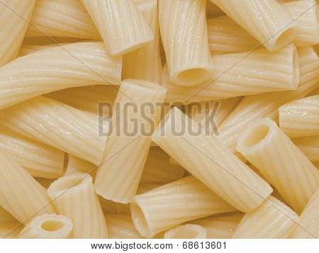 Cooked Maccheroni Pasta Tubes Food Texture Background