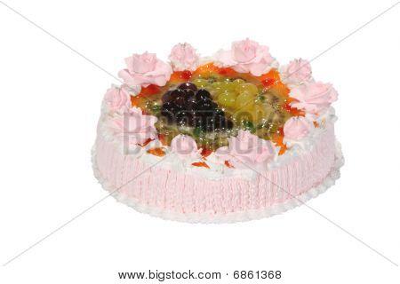 Wedding Sweet Cake With Flower