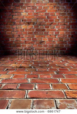 Grungy Brick Room