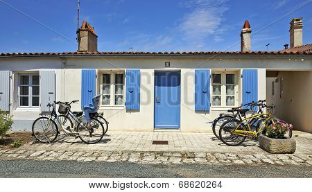 Typical House From Aix Island In Charente Maritime, France
