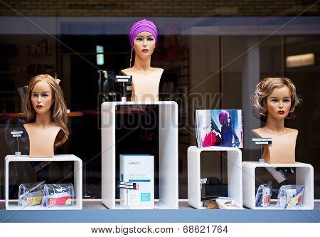 Beauty salon window