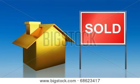 Gold House Sold Sky
