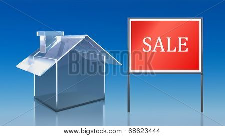 Investment Blue Glass House Sale