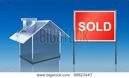 Investment Blue Glass House Sold