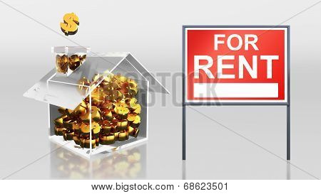 Investment Saving Dollar For Rent