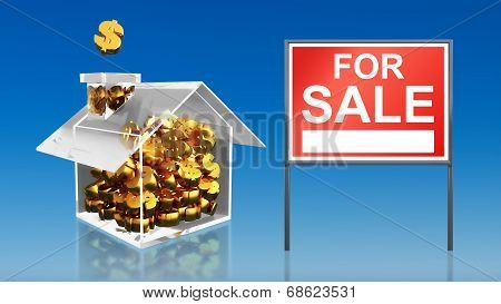 Investment Saving Money At House For Sale Sky