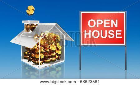 Investment Saving Money Open House Sky