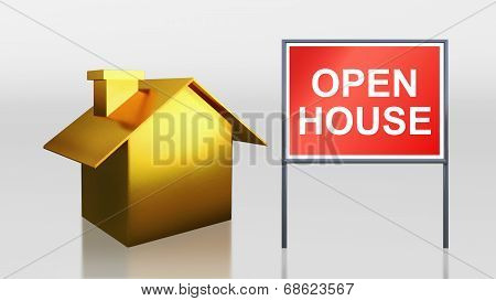 Gold House For Open House