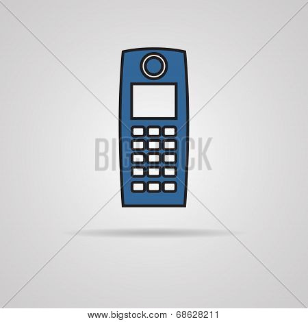 Old mobile phone vector illustration