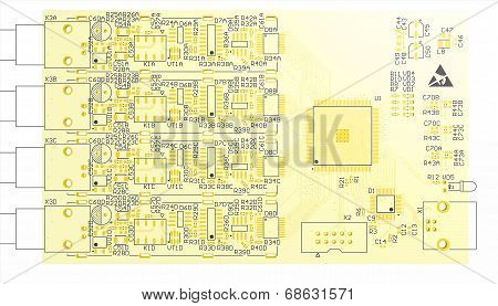 Device Pcb Yellow