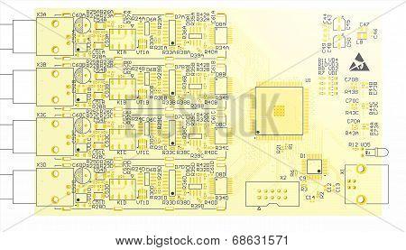 Device Pcb Yellow